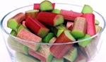 Description=COPYRIGHT PHOTO BY DOUG HAMILTON C/O IMAGING DEPT LEVEL 5 NI WAPPING. A BOWL OF CHOPPED RHUBARB.